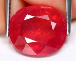 Red Ruby 9.07Ct Oval Cut Pigeon Blood Red Ruby C0310