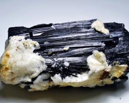 Amazing Natural huge Black Tourmaline specimen have good luster 1555Cts-P