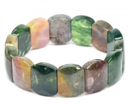 """LOVELY """"AAA"""" 15.4MM MULTI COLOR AGATE  BEADS"""