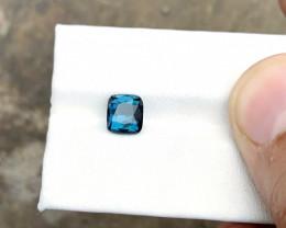 1.80 Ct Natural Blue Indicolite Transparent Tourmaline Gemstone