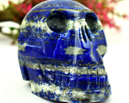 Genuine 978 Cts Lapis Lazuli Hand Carved Skull Carving