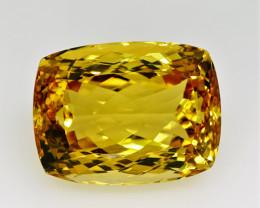 24.32  ct. 100% Natural Top Yellow Golden Citrine Unheated -IGE Certificat