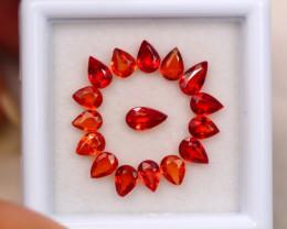 2.70ct Natural Songea Sapphire Pear Cut Lot GW8336