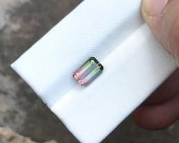 1.60 Ct Natural Bi Color Transparent Tourmaline Ring Size Gemstone