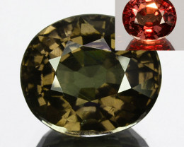 ~UNTREATED~ 5.64 Cts Natural Color Change Garnet Oval Tanzania