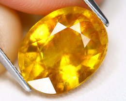 Yellow Sapphire 6.82Ct Oval Cut Yellow Color Sapphire C1403