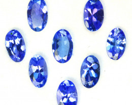 2.00 Cts Natural Purple Blue Tanzanite 5x3mm Oval Cut 8Pcs Tanzania