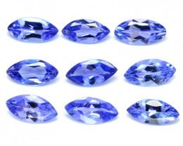 *No Reserve*Tanzanite 1.28 Cts 9pcs rare Violet Blue Color Natural