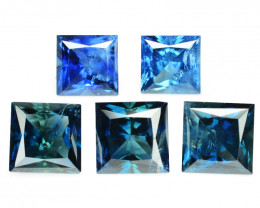 Blue Sapphire 2.69 Cts 6 Pcs Amazing Rare Natural Fancy Loose Gemstone