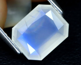 Blue Moonstone 1.61Ct Octagon Cut Natural Ceylon Icy Moonstone A1506