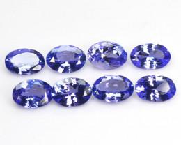 Tanzanite 4.71 Cts 8Pcs Rare Violet Blue Color Natural Gemstone