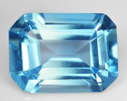 Topaz 12.41 Cts Swiss Blue Natural Gemstone
