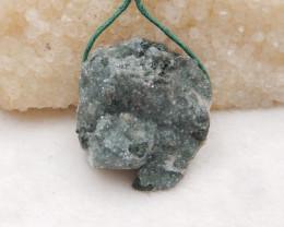 96cts Natural Raw Crystal Pendant ,Natural Gemstone Pendant-Wholesale H1311