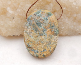 97.5cts Natural Raw Jasper Pendant ,Natural Gemstone Pendant-Wholesale H131