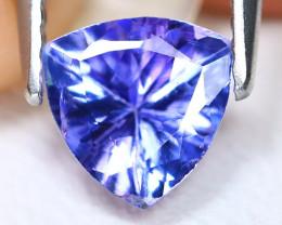Tanzanite 1.00Ct VS2 Trillion Cut Natural Purplish Blue Tanzanite C1504