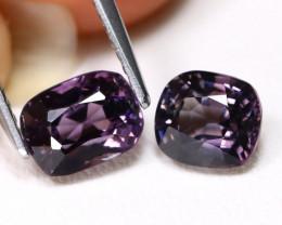 Purple Spinel 2.74Ct 2Pcs VS Octagon Cut Natural Purple Spinel C1510