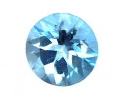 2.07cts Natural Swiss Blue Topaz Round Cut