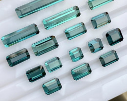 Natural Blue Tourmaline 50.31 Amazing 16 pieces