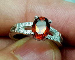 16Crt Madeira Citrine 925 Silver Ring 7 Natural Gemstones JI116
