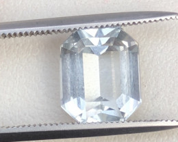 3.10 ct Attractive Aquamarine Amazing cut Ring Size