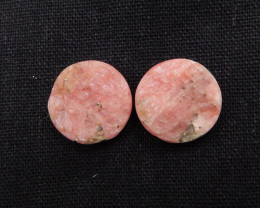 42.5cts Rhodonite ,Handmade Gemstone ,Rhodonite Cabochon Pair ,Lucky Stone