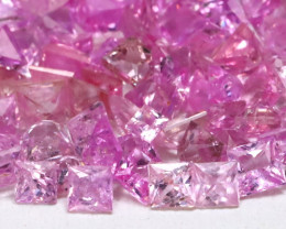 11.74Ct Princess 2.2mm Natural Untreated Pink Color Sapphire Lot A0305