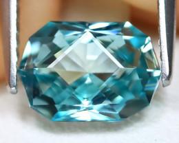 Blue Zircon 2.11Ct VVS Master Cut Natural Cambodian Blue Zircon B1608
