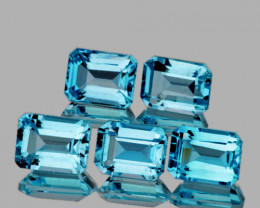 7x5 mm Octagon 5 pieces 6.25cts Sky Blue Topaz [VVS]