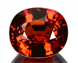 5.01 Cts Amazing Natural Mandarin Spessartite Garnet Beautiful Oval - Ref V