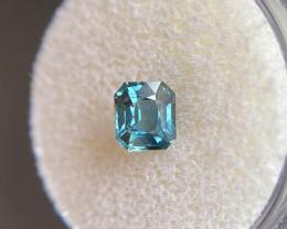 FINE 1.13ct Australian Greenish Blue Teal Sapphire Fancy Emerald Cut Gem 6x