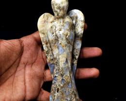 Genuine 1367.00 Cts Cobra Jasper Hand Carved Angel Carving