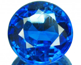 1.62 Cts Natural Royal Blue Kyanite 7.0mm Round Cut Nepal