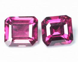 Paired Unheated Natural Pinkish Purple Rhodolite Garnet Gemstone