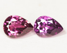 Paired Unheated Natural Pinkish Purple Rhodolite Garnet Gemstone