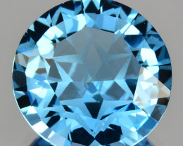 ~CUSTOM CUT~ 6.06 Cts Natural Swiss Blue Topaz Stunning Fancy Round Brazil