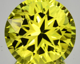 ~CUSTOM CUT~ 16.84 Cts Natural Lemon Quartz Yellow Fancy Round Brazil