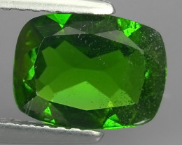1.65 Cts MARVELOUS RARE CUSHION NATURAL TOP GREEN- CHROME DIOPSIDE