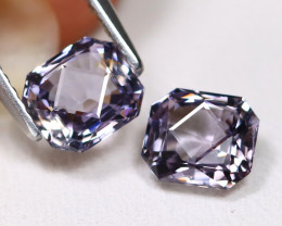Spinel 2.15Ct VVS Master Cut Natural Burmese Purple Spinel Pair ET115