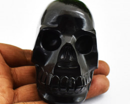 Genuine 1213.00 Cts Spinel Hand Carved Skull Carving