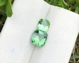 1.90 Ct Natural Green Transparent Tourmaline Gemstones Parcels
