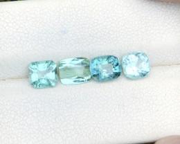 3.40 Ct Natural Blue & Sea Foam Transparent Tourmaline Gems Parcels