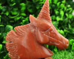 Genuine 1285.00 Cts Aventurine Unicorn Horse Head   Hand Carved Tortoise Ca