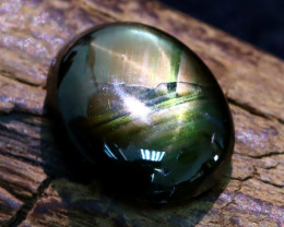 Star Sapphire 4.90Ct Natural Thailand Golden Black Star Sapphire A1913