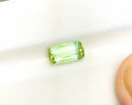 HGTL CERTIFIED 1.69 Ct Natural Blueish Green Transparent Tourmaline Gemston