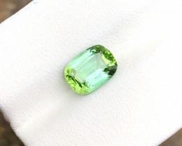 HGTL CERTIFIED 2.10 Ct Natural Blueish Green Transparent Tourmaline Gemston