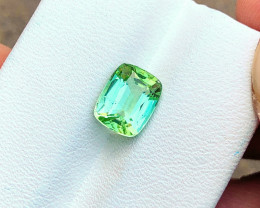 HGTL CERTIFIED 2.59 Ct Natural Blueish Green Transparent Tourmaline Gemston