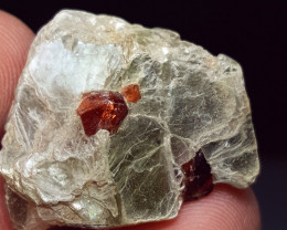 Amazing  Natural color Damage free Lovely Garnet combine with Mica  30Cts-P