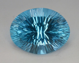 blue Swiss Topaz 40.00 Ct Natural Gemstone