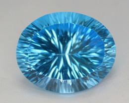 blue Swiss Topaz 34.70 Ct Natural Gemstone