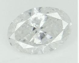 0.70 CTS , Oval Brilliant Cut , Light Color Diamond